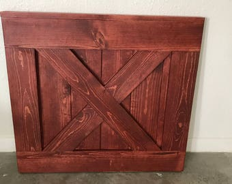 Custom Barn Door Baby Gate, Sedona Red Baby and Pet Gate