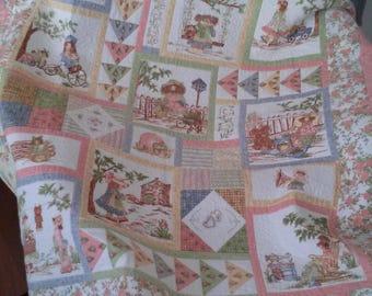 A girls Dream Quilt/Warm Flannel quilt/A girls Busy Day