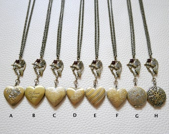 Hummingbird Necklace, Hummingbird locket,Hummingbird jewelry