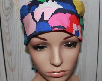 In Bloom,Women's Surgical Scrub Hat, Chemo Hat, OR Nurses Hat, Surgical Scrub Hat, Vet, Vet Tech