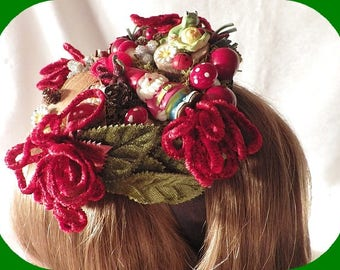 Fascinator burlesque elfles fairy gardens, Dwarves and elves hairstyle