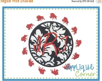 50% Off INSTANT DOWNLOAD Wild Board Filled Border Patch applique digital design for embroidery machine by Applique Corner