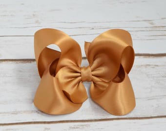 Gold Satin Bow, Girls Hair Bows, Toddler Hair Bows, Adult Hair Bows, Hair Bows for Girls, Gold Hair Bow, Satin Hair Bows, Hair Bows,  904