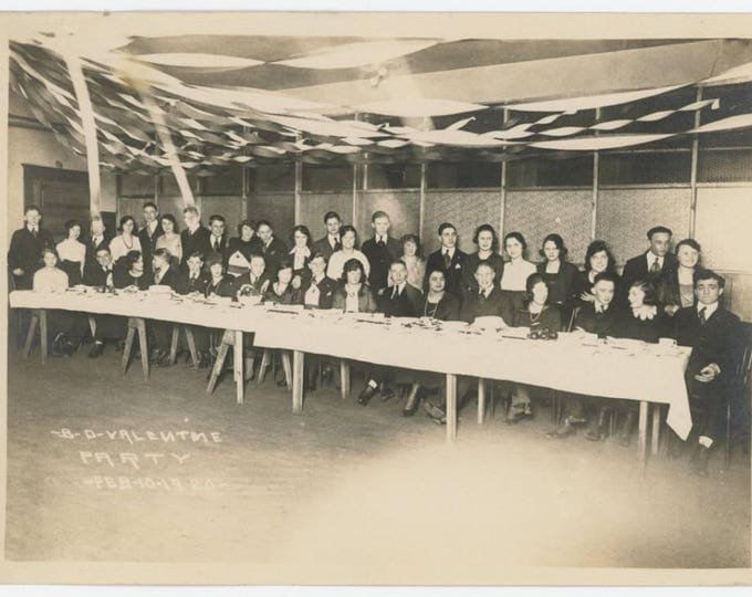 B-D Valentine Party, Feb 10, 1920: 5x7 Vintage Snapshot Photo (78598)