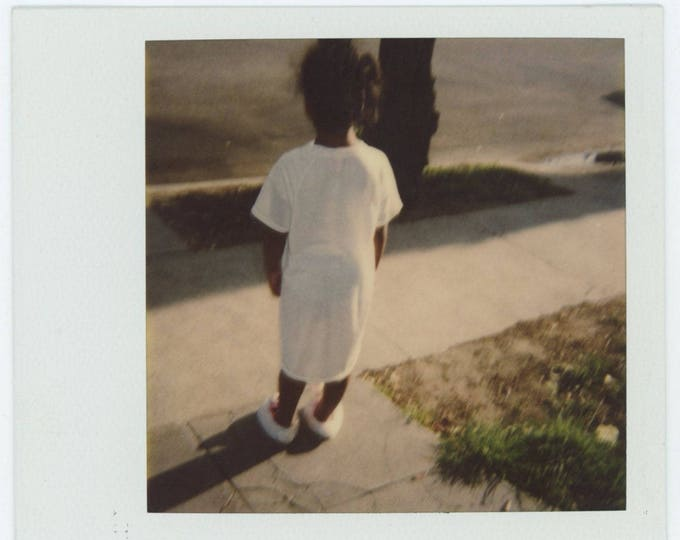 Vintage Polaroid SX-70 Snapshot Photo: Nightshirt & Slippers (710616)