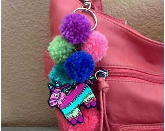Piñata Fiesta Tassel Purse Handbag Charm Key Chain FOB