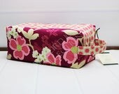 Womens Wash Bag - Large Toilet Bag - Pink Toiletry Bag - Floral Box Pouch - Makeup Storage Box - Knitting Project Bag - Joel Dewberry