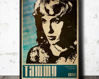 Tammy Wynette Country Music Poster
