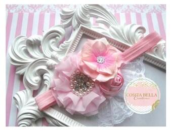 Flowergirl Headband-Christening Headband -Photography headband,Girls Headband-Communion Headband,Baby,Hair Accesories,Newborn,Wedding