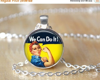 SUMMER SALE We Can Do It Necklace - Feminism Necklace - Gifts for Feminists - Feminism Jewelry - Feminist Necklace - Women's Equality - Equa