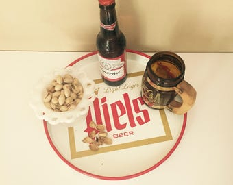 Vintage Piels Beer Tray Round Beer Collectibles Man Cave Sports Bar Breweriana