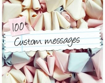 100 custom message SMALL paper origami hearts - wedding favour - simple decor - paper anniversary