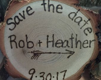 25 Rustic Save the Date magnets barn wedding country  favors true love bridal shower favors