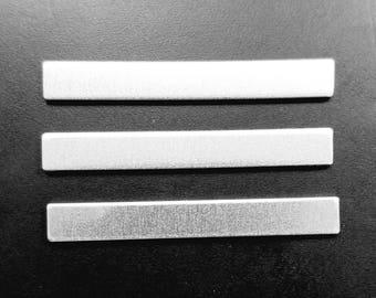 Aluminum 1/4 x 2 Inch Rectangle Blank, 14g Aluminum Stamping Blanks Stamping Supplies, Hand Stamping Jewelry Supplies Free Ship
