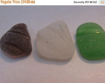 Sea glass bottlenecks genuine beach glass