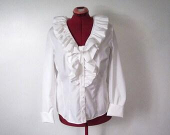 White Blouse Large Collar 66