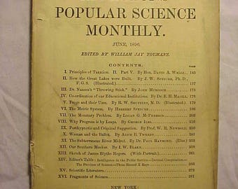 June 1896 Appletons' Popular Science Monthly Magazine with 150+ pages of ads and articles , Edited By William Jay Youmans