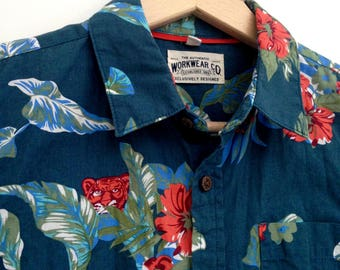 Vintage rad Hawaiian Shirt child 8 - 9 years Workwear Co
