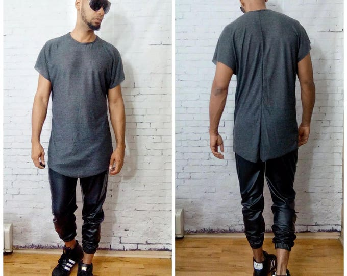 Drop Shoulder Back Seamed T-Shirt
