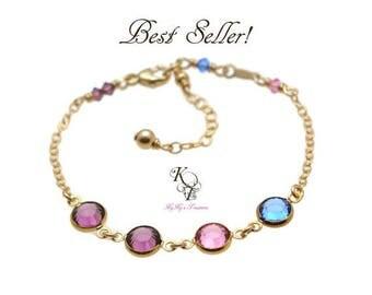 Mothers Birthstone Bracelet, Family Bracelet, Gold Birthstone Bracelet, Mothers Bracelet, Birthstone Bracelet, Birthstone Jewelry