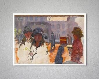 La Rue, Orgue de Barbarie by Pierre Bonnard Fine Art Print - Poster Paper, Sticker or Canvas Print / Gift Idea