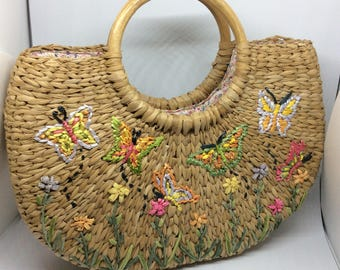 Vintage Straw Purse Phillipines