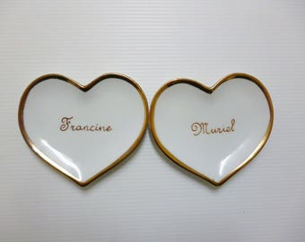 Hearts customizable place cards