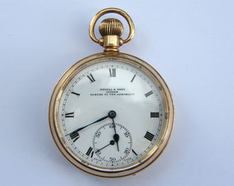 Vintage-9ct Gold Pocket Watch-Kendal & Dent-Makers To The Admiralty-Chester-circa 1928