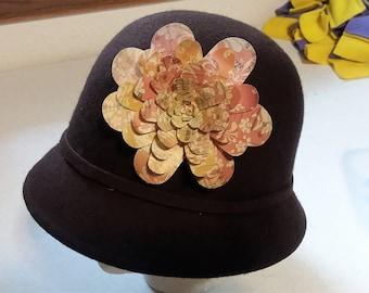 Paper Flower Pins