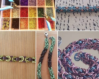 Custom Handmade Chainmaille Bracelet-Your Choice of Colors!