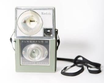 Kodak Flashfun Hawkeye 1960s Flash Camera Seafoam Green