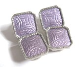 Reserve for Jonathan Layaway Deposit #5 2 Pair EDWARDIAN Antique Silver Rhodium GUILLOCHE ENAMEL Snap Cufflinks Deco Cuff Links