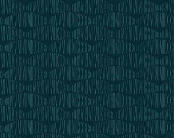 Geo Stripes in Teal from Stof of Denmark