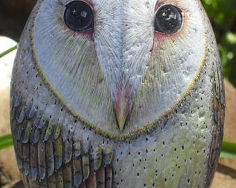 Barn Owl Rock on Lodge Pole OOAK