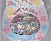 Sanrio Orginal Little Twin Stars Deco Sticker Flakes with Gold Accent 20 pieces  Price depends on order volume.