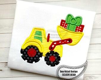 Christmas Loader with Present - Christmas Custom Tee Shirt - Customizable