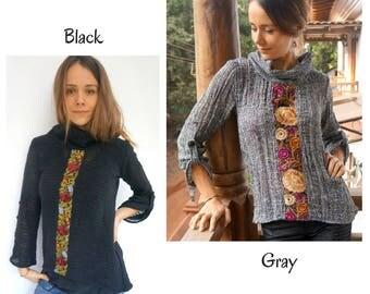 Cowl Neck Sweater, Cowl Neck, Boho Knitwear, Boho Winter Sweater, Boho Women Sweater, Women Sweaters, Cowl, Women, Boho chic, Winter
