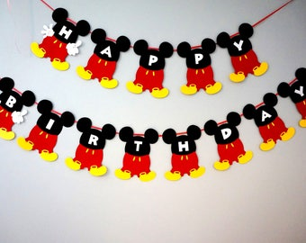 Mickey Mouse Disney ONE 1st Birthday Banner