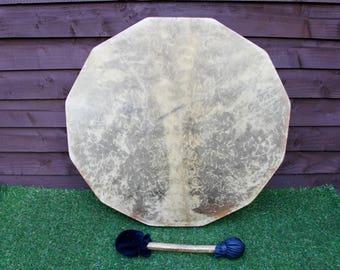 "25"" Red Deer/Stag Rawhide Drum. Thunder Drum Native American Style / Shaman / Pagan Drum"