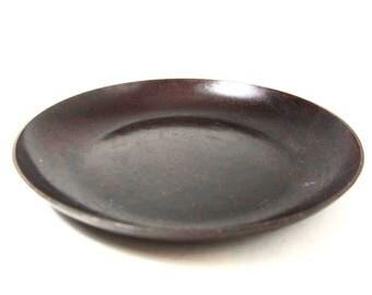 Arts and Crafts misson style dish trinket tray Bauhaus circa 1930s hammered  Eugen Zint copper Roycroft Stickley