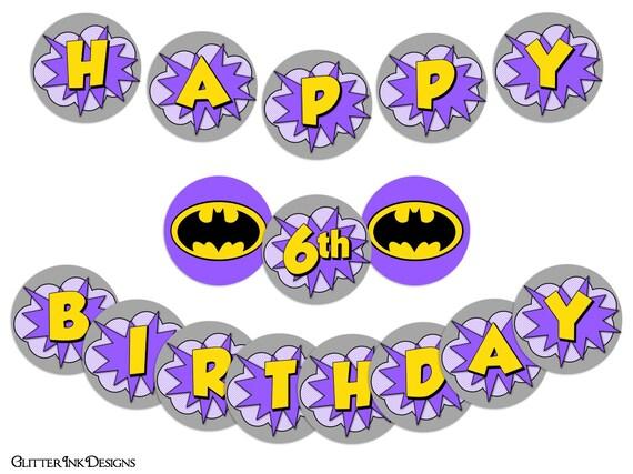 flying super hero party purple batgirl super girl pdf printable