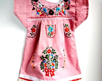 Dusty PINK dress for MEXICAN BABY