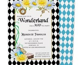 Alice in Wonderland Invitation | Alice Wonderland Bridal Shower | Printable Digital File | WSI132DIY