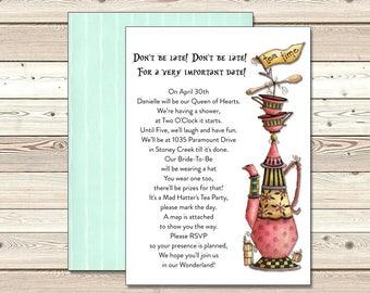 Mad Hatter Invitation | Adult Birthday | Printable Digital File | TPI154DIY