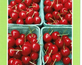 Cherries at the Farmer's Market - photo card