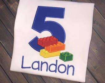 Personalized Lego Birthday Shirt