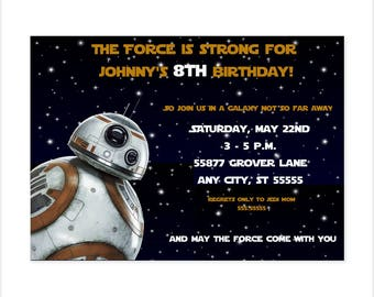BB8 Birthday Invitation