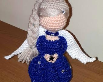 Hand crocheted angel