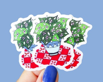 Mini Vinyl Plant Stickers - Waterproof Stickers, Succulent Stickers, Laptop Stickers, Planner Stickers, Indoor Plant