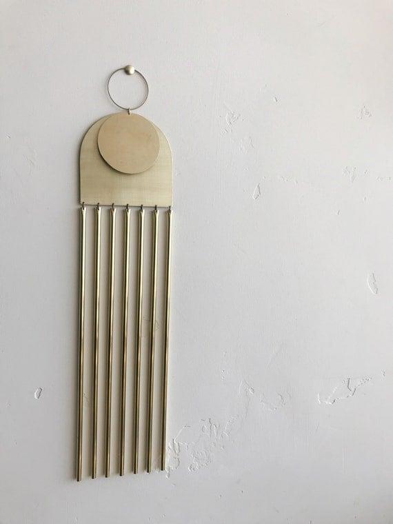 "Brass Wall Hanging - ""Annah"" - made-to-order - 1 week turnaround time"